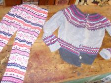 Gymboree sz 8 10 12  fair isle cardigan sweater and matching leggings set girls