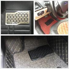 Universal 27*14cm Metal Autos Floor Mats Heel Plate Pedal Footrest Foot Rest Mat