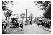 pt2561 - Tram & Bus at West Point , Levenshulme , Lancashire - photograph 6x4
