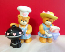 As Is Lucy & Me Barbecue Barbeque Teddy Bears Enesco Figurine As Is