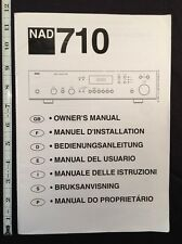 NAD 710 Stereo Receiver Original Owners Manual 38 Pages Combined Languages