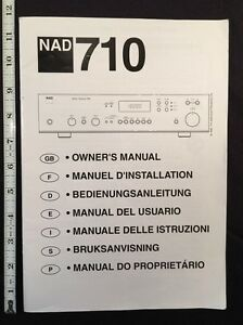 """NAD 710 Stereo Receiver """"Original Owners Manual"""" 38 Pages Combined Languages"""