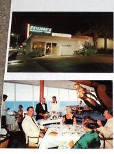 3 Vintage MID CENTURY FLORIDA RESTAURANT Cards-FT LAUDERDALE-Yankee Clipper +
