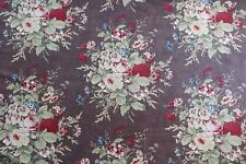 "MULBERRY CURTAIN/UPHOLSTERY FABRIC DESIGN ""Faded Bouquet"" 6 METRES LINEN UNION"