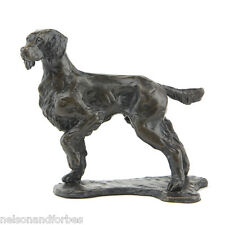 """Sue Maclaurin """"Standing Springer Spaniel"""" Solid Bronze Sculpture Nelson & Forbes"""