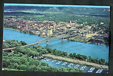 Posted 1966 Aerial View of Bridge, La Crosse, Mississippi River, USA