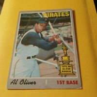 1970 TOPPS OPC O PEE CHEE #166 AL OLIVER PITTSBURGH PIRATES ALL STAR Rookie