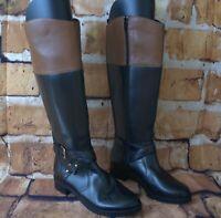 BANDOLINO JIMAN KNEE BOOTS BLACK/BROWN  8.5M NEW W/O BOX