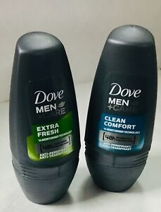 Dove Men+Care Clean Comfort & Extra Fresh Deodorant Roll On 50ml X 2 immed despa