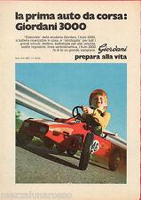 Pubblicità Advertising 1971 Auto da corsa GIORDANI 3000