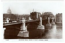 EXCELLENT R.P. POSTCARD SOUTHWARK BRIDGE-SHEWING ST. PAUL`S CATHEDRAL LONDON
