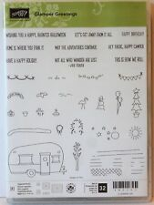 Stampin Up GLAMPER GREETINGS Photopolymer stamps NEW camper towing camping