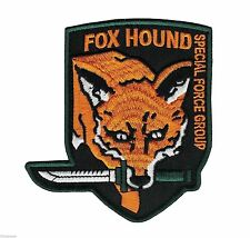 Metal Gear Solid Fox Hound Logo Embroidered Patch - Snake Phantom Pain 3 4 V