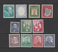GERMANY BUND 1949-1953 Group of Mint no gum stamps (*)