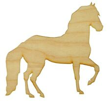 Horse Shape Wood Cut Out Unfinished Wooden Craft Supplies Variety of Sizes HRS02