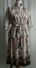 Floral 2-Piece Print Dress with Cloth Belt - Excellent Condition - Custom Made -