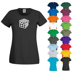 CRE8 ORIGAMI RUBIKS CUBE T Shirt 10 - Womens Girls Novelty Top