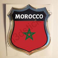 Pegatina Marruecos 3D Escudo Emblema Vinilo Adhesivo Resina Relieve Coche Moto