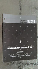 Marantz Service Manual SD240 Cassette tape deck palyer Original Repair book