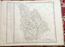 Dépt 86 - Carte Originale de 1790 Gravure sur Cuivre Aquarellée 73 x 56 cm