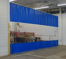 WINTER PVC CURTAIN WALL PARTITION (650GM/SQ.M) CLEAR PVC WINDOW AND RAIL SYSTEM