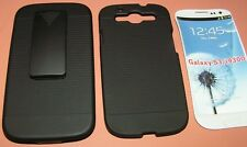 Hard Case and Holster Combo Samsung Galaxy S III, Velvet lined holster, BLACK