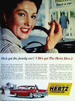 "1958 HERTZ 1958 Chevrolet Impala Original Print Ad 8.5 x 11"""