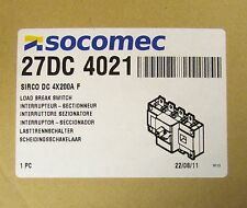 SOCOMEC Load Break Switch 200 Amp 4 Pole 27DC 4021 SIRCO DC 4X200A F