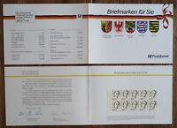 2 x GH1 Bund Geschenkheftchen postfrisch MH mit je 10 x der Nr. 1390 Frauen BRD