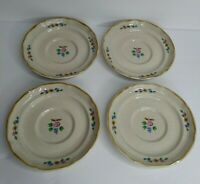 "International Heartland Set of (4) 6 1/4"" Saucer Plates Stoneware Vintage"