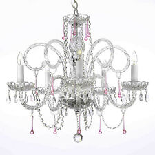 Pink Crystal Chandelier Chandeliers Lighting H25