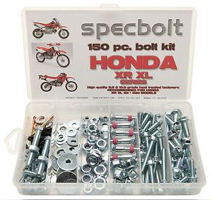 150pc HONDA XR XL Bolt Kit Z50 80 100 185 200 250 400 500 600 650 body etc