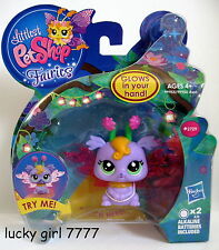 Littlest Pet Shop LIGHT UP Fairies LILAC #2729 Glows in Your Hand! NIB FREE SHIP