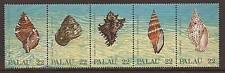 PALAU #'s 150-54 Sea Shells Strip of Five