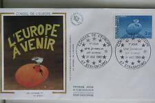 ENVELOPPE PREMIER JOUR SOIE 1985 CONSEIL DE L'EUROPE