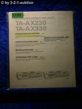 Sony Bedienungsanleitung TA AX230 / AX330 Stereo Amplifier  (#1105)