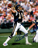 DAN FOUTS SIGNED AUTOGRAPHED 8x10 PHOTO SAN DIEGO CHARGERS PSA/DNA