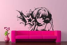 Wall Vinyl Sticker Decals Kids Room Decor Mural Anime DJ Girl Star Cheap #146