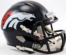 Denver Broncos Riddell NFL Team Revolution SPEED Mini Helmet 6-Pack Case