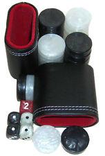 Backgammon Accessori Set. 30 piccoli dama, dadi, Cubo, 2 TAZZE. GRATIS P&P UK