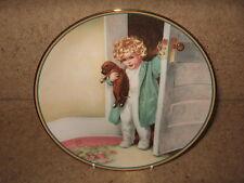 "Fab Cute Retro Toddler+Puppy Plate~ ""GOOD MORNING"" Bessie Pease Gutmann 1986"