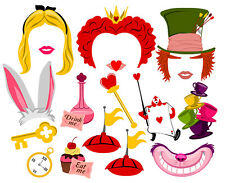 Alice in Wonderland inspired DIGITAL photo booth props NO PHYSICAL ITEM