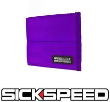 SICKSPEED WALLET SEAT BELT SEATBELT PAD RACING HARNESS BIFOLD BILLFOLD PURPLE P4