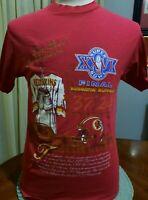 Super Bowl XXVI Washington Redskins T Shirt Small 37 Chest Rypien Gibbs 26