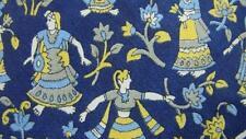SILK BLUE YELLOW WOMAN DANCING REPEAT SILK NECKTIE TIE MFE1517B #B12