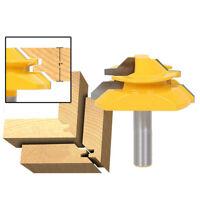 """Schaft Oberfräse Finger Joint Kleber Router Bit Holzbearbeitung Fräser 1/2 """" Bit"""