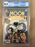 MOON KNIGHT #1 CGC 8.5 WHITE Pages - Solo Series / First appearance of BUSHMAN!