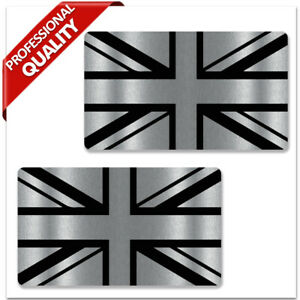 GB Union Jack Great Britain UK Flag Silver Stickers Scooter Car Motorbike Decals
