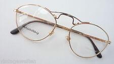 Treu Brillen Kleine Runde Professorbrille Antiklook Vintage Gold Gestell Grösse S Beauty & Gesundheit Augenoptik