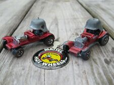 Red Baron 1969 Hk Vintage Original Hot Wheels Redline X 2 with metal button